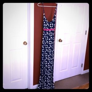 Never worn navy maxi dress!